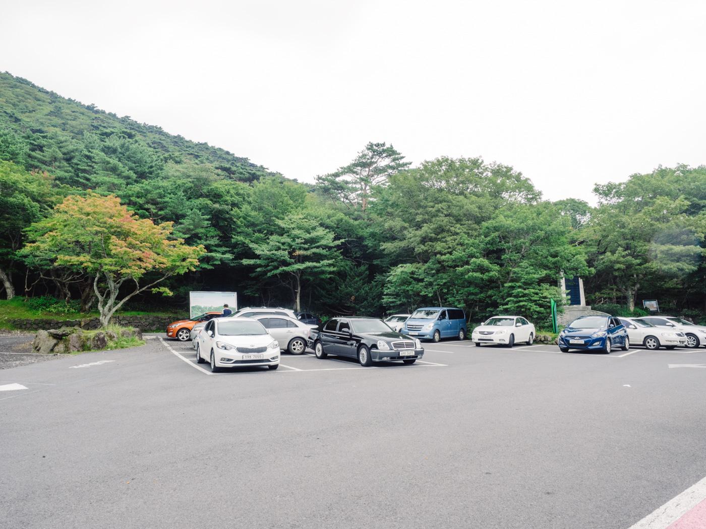 Korea - Mt Hallasan - Carpark
