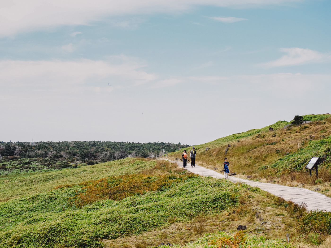 Korea - Mt Hallasan - Family hiking together