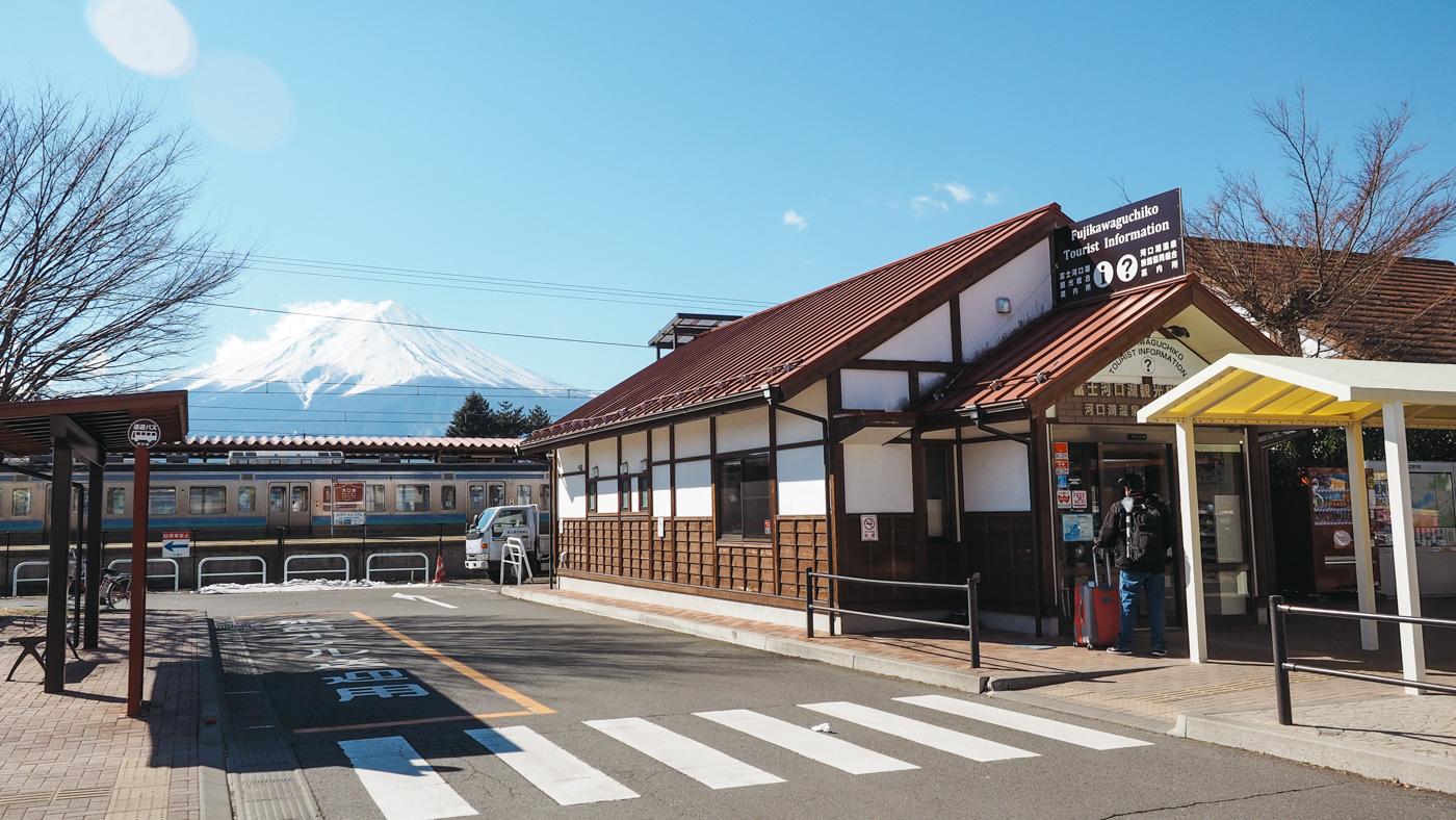 Japan - Mount Fuji - Train station