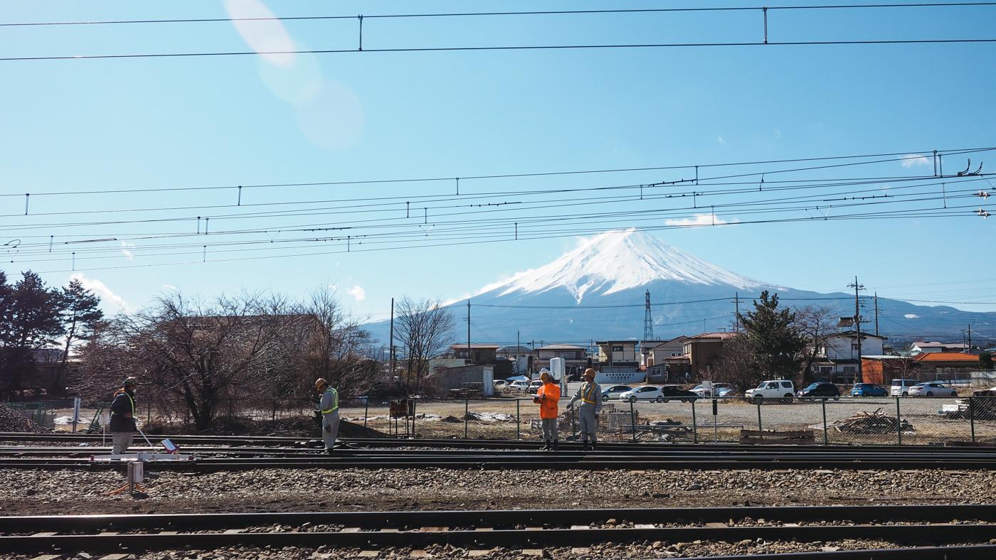 Japan - Mount Fuji - Train station staff