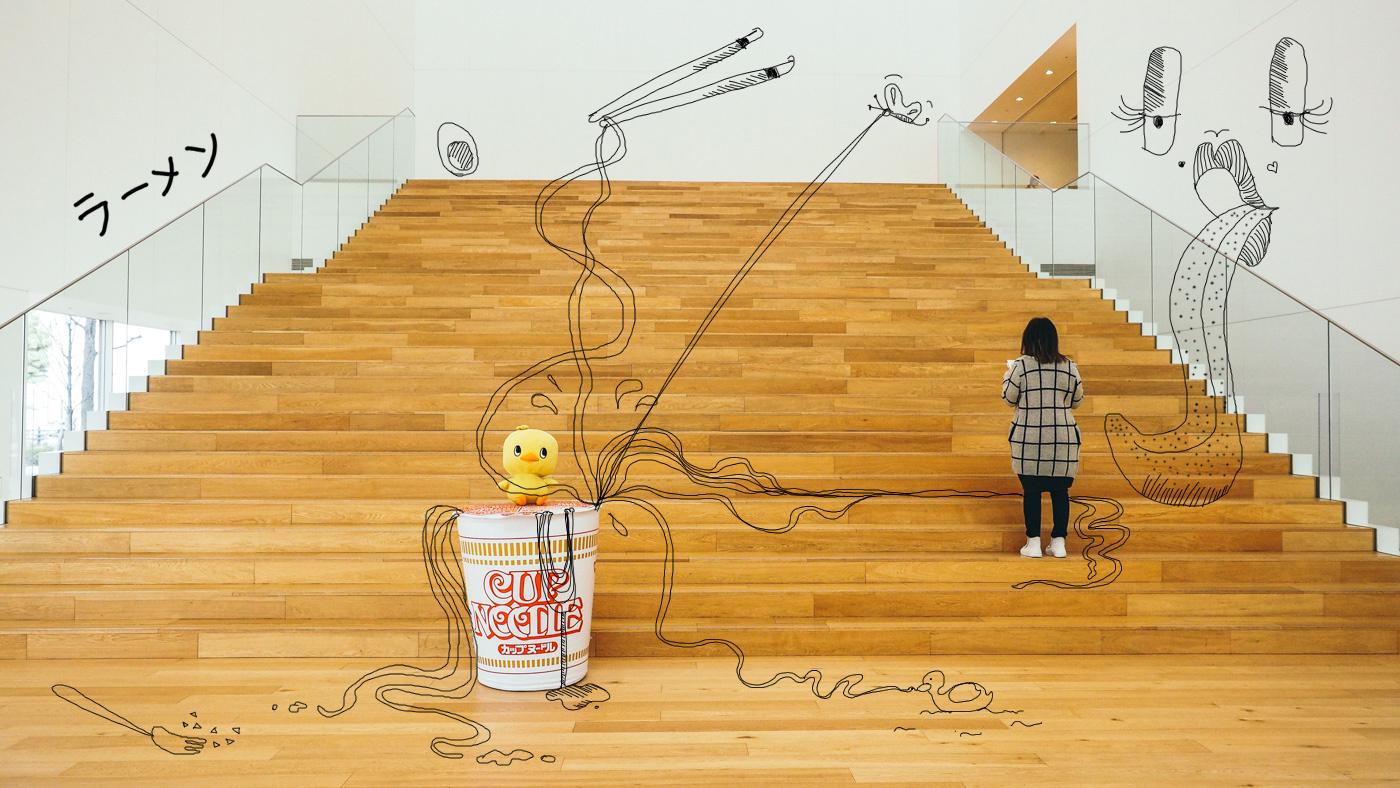 Japan - Yokohama - Nissin Cup Noodle Museum life size cup noodle