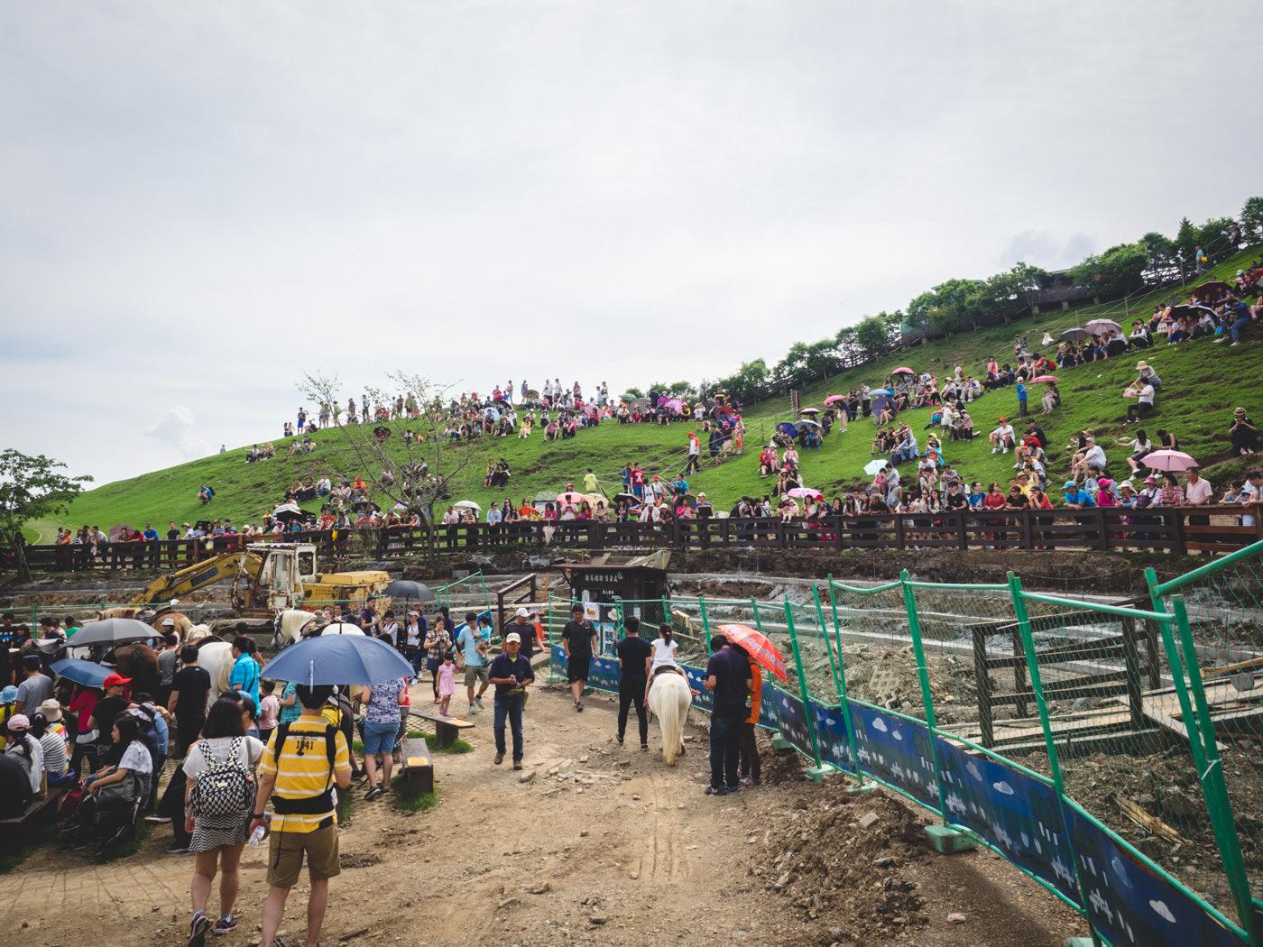 Taiwan - Qingjing Farm - Tourist waiting for the show to begin