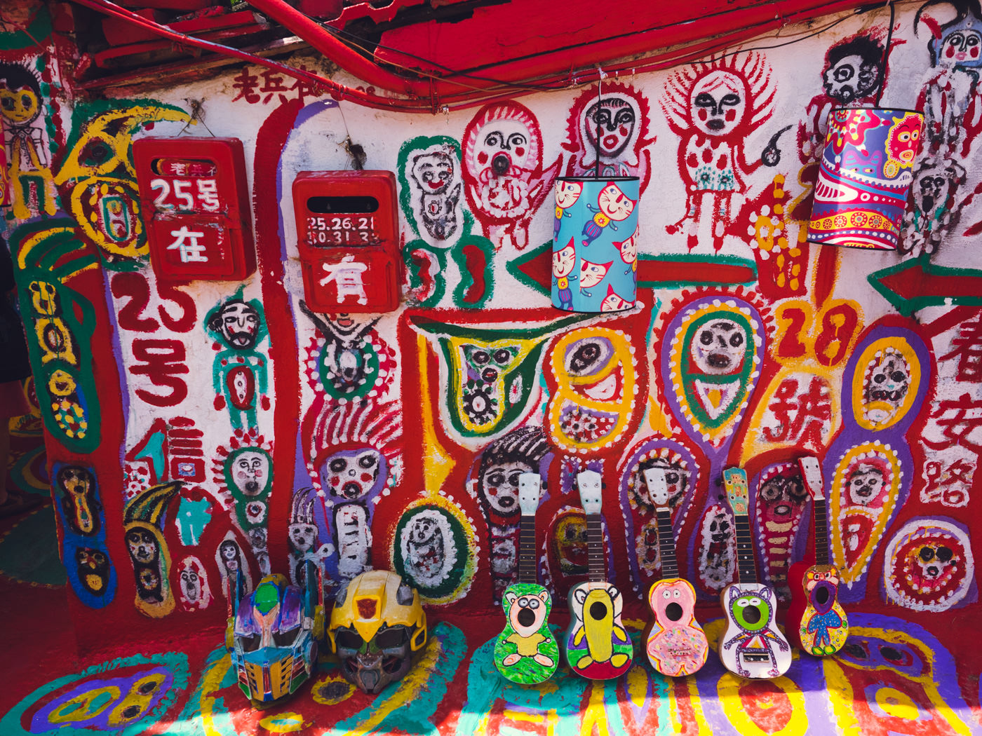 Taiwan - Rainbow Village - Hand painted ukuleles