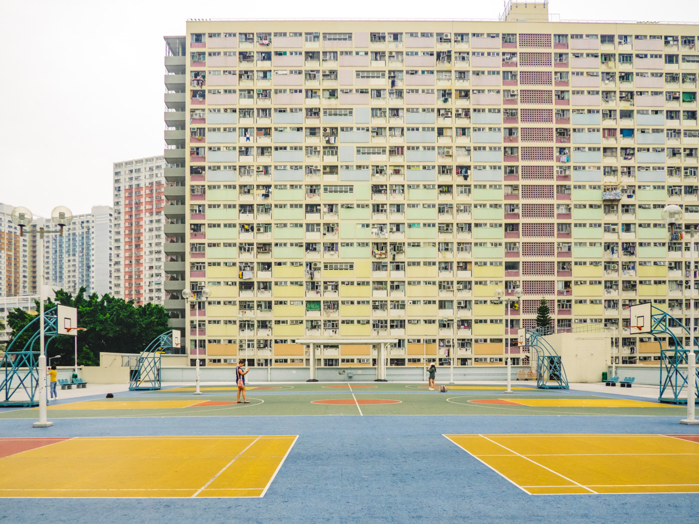 Hong Kong - Rainbow Estate - Basketball court full view