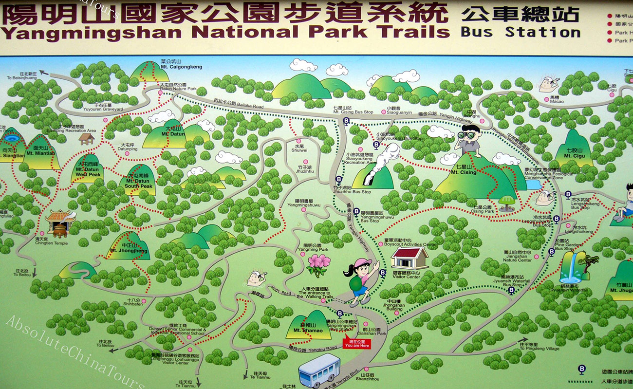 Yangmingshan - Map