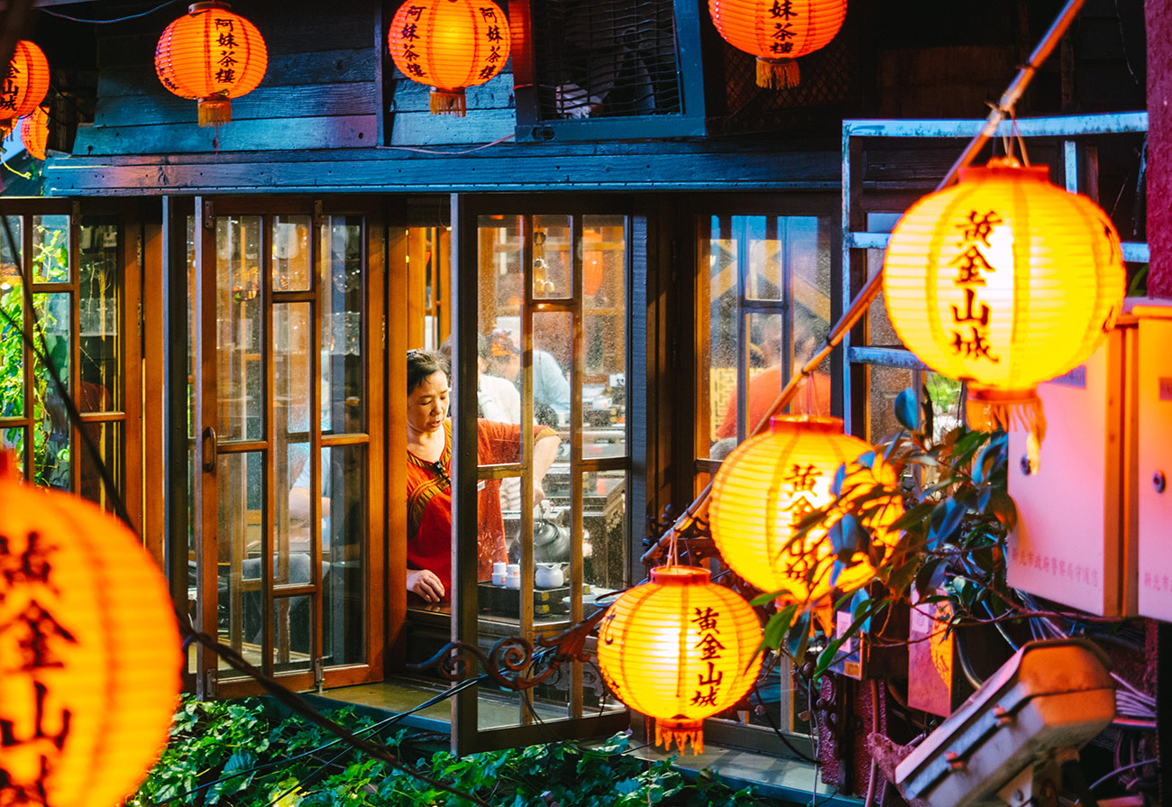 Taipei Jiufen - Teahouse window