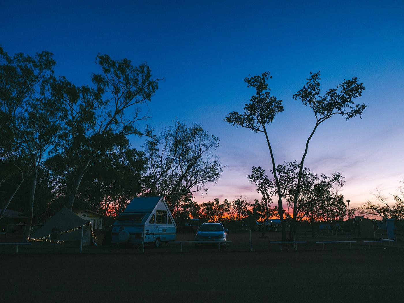 NT Australia - Outback Caravan Park - Sunset