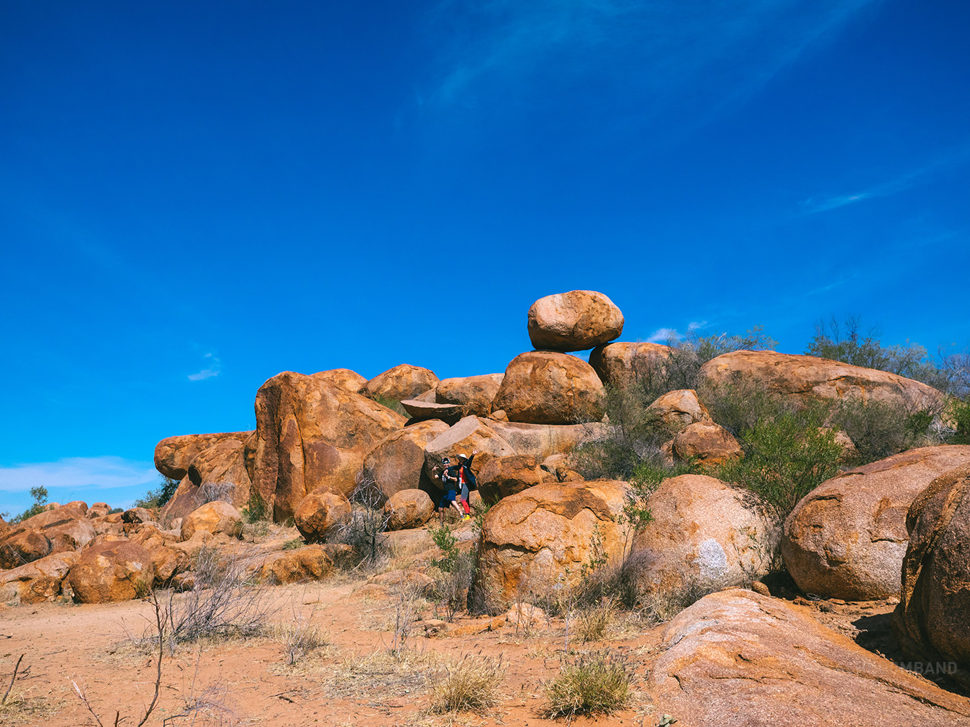 NT Australia - Karlu Karlu - E & A with the tipping pebble