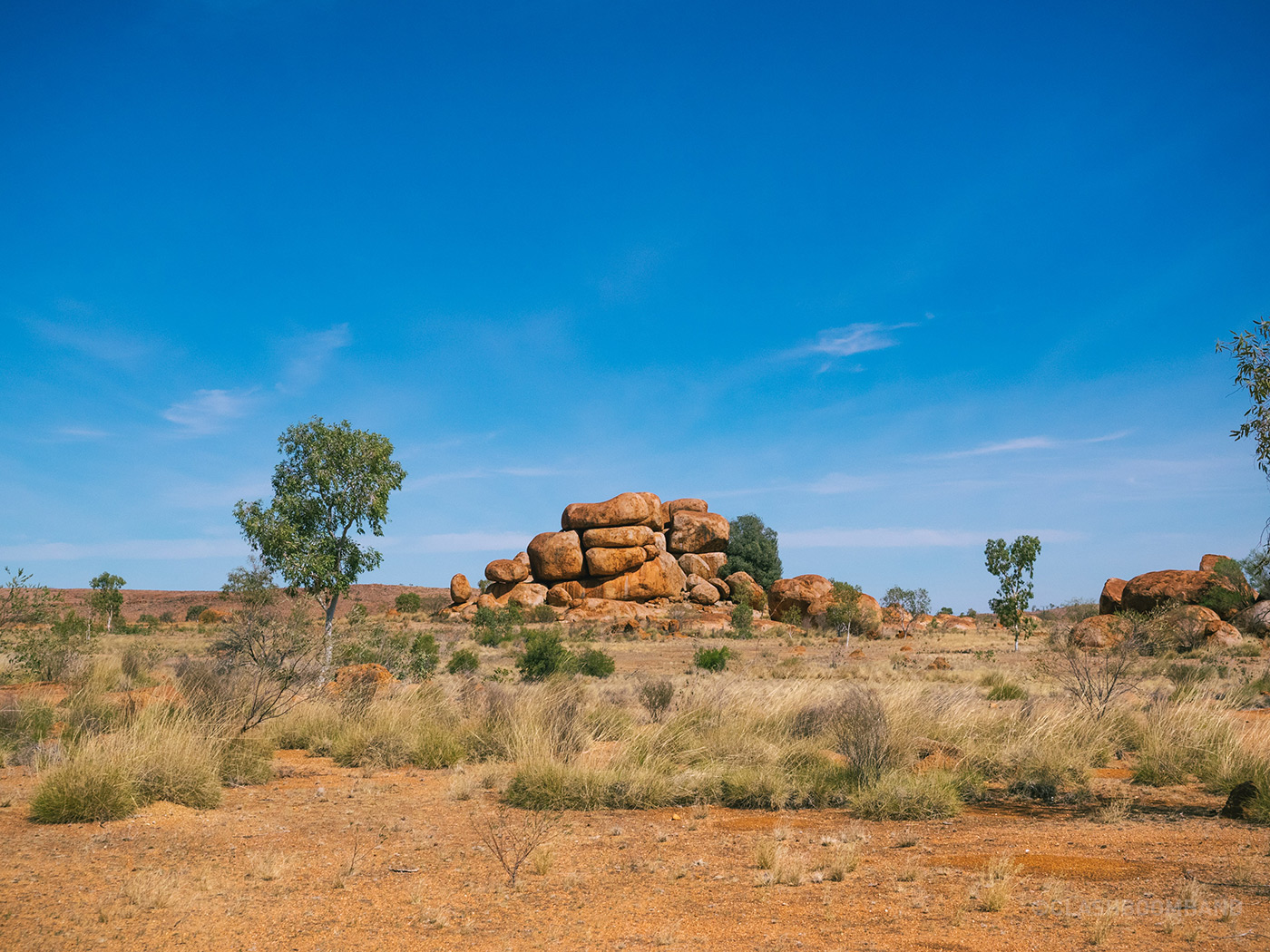 NT Australia - Karlu Karlu - Neatly stacked boulders