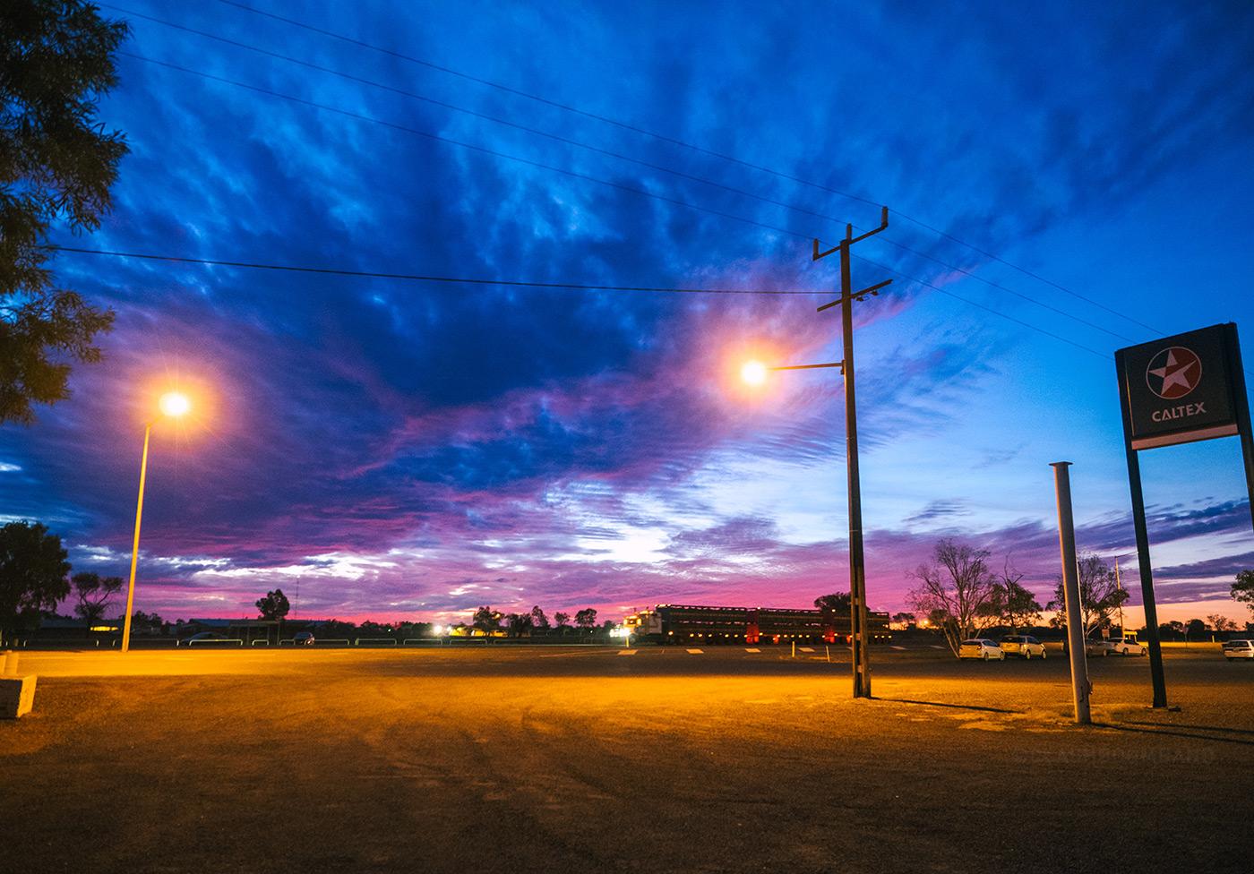 NT Australia - Ti Tree Roadhouse - Colorful sunset
