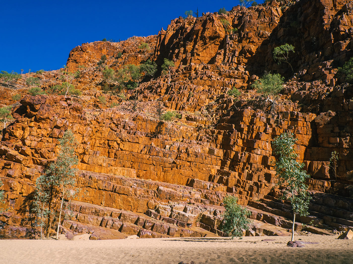 Mountain steps at Ormiston Gorge