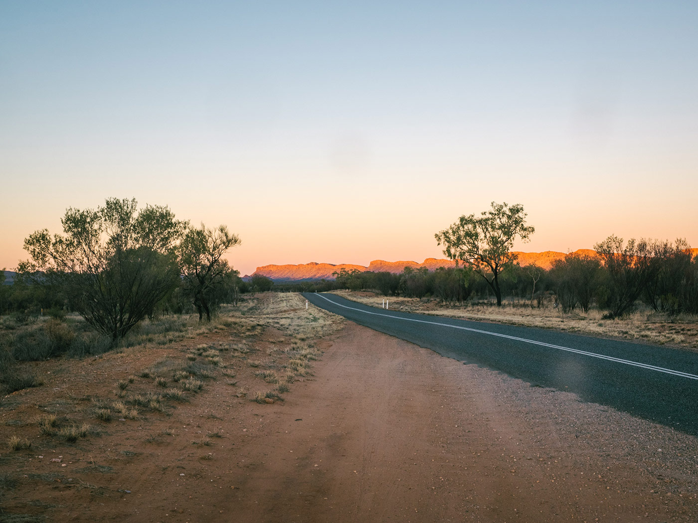 Driving to the Uluru